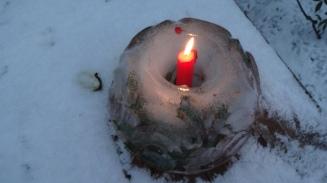 Pittoreske Eisformen entstehen über Nacht.